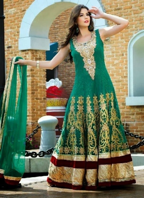 Indian long dresses designs