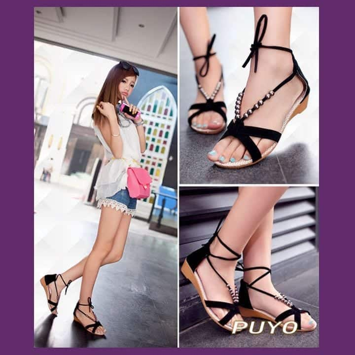 summer-girls-woman-flats-sandals-shoes-sexy-flat-heel-beaded-lacing-wedge-casual-black-16183