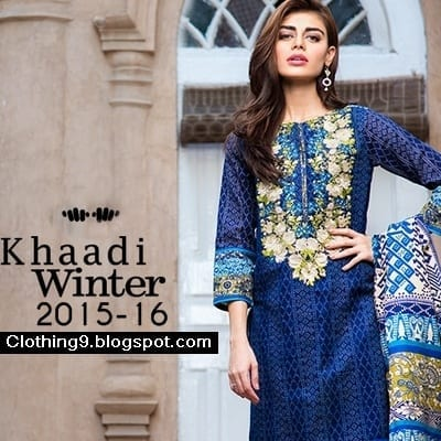 Khaadi-Winter-Collection-2015-16 Top 10 Pakistani Clothing Brands for Women 2017