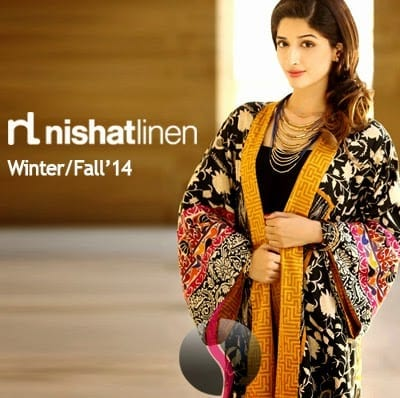 Nishat-Linen-Winter-14 Top 10 Pakistani Clothing Brands for Women 2017