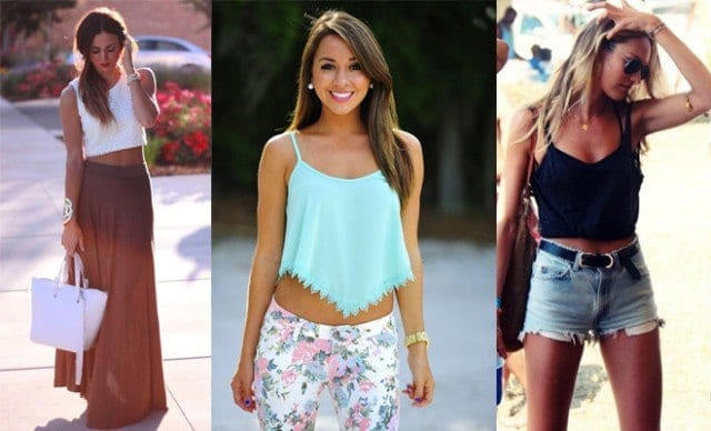 crop-tops-e1405529787267 How to Wear Bandeau Tops-20 Cool Styles to Wear Bandeau Tops