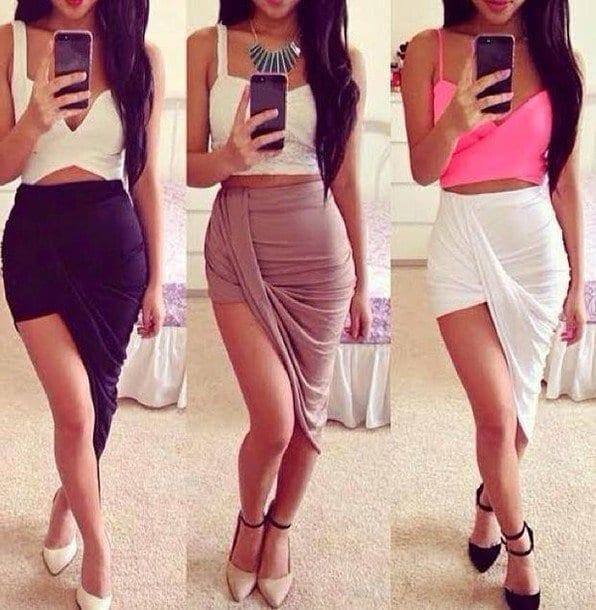 o9kfzc-l-610x610-skirt-sexy-summeroutfits-sexyskirt-wrapskirt-wrapskirts-highwaistskirts-splitskirt-bandedskirt-highwaisted-drapedskirt-cut-cutskirt-asymetricskirt-hilowskirt-maxiski How to Wear Bandeau Tops-20 Cool Styles to Wear Bandeau Tops