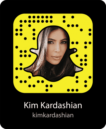 Kimk-snapcode-369x450 Hollywood Celebrity Snapchats-15 Hollywood Snapchat Accounts to Follow