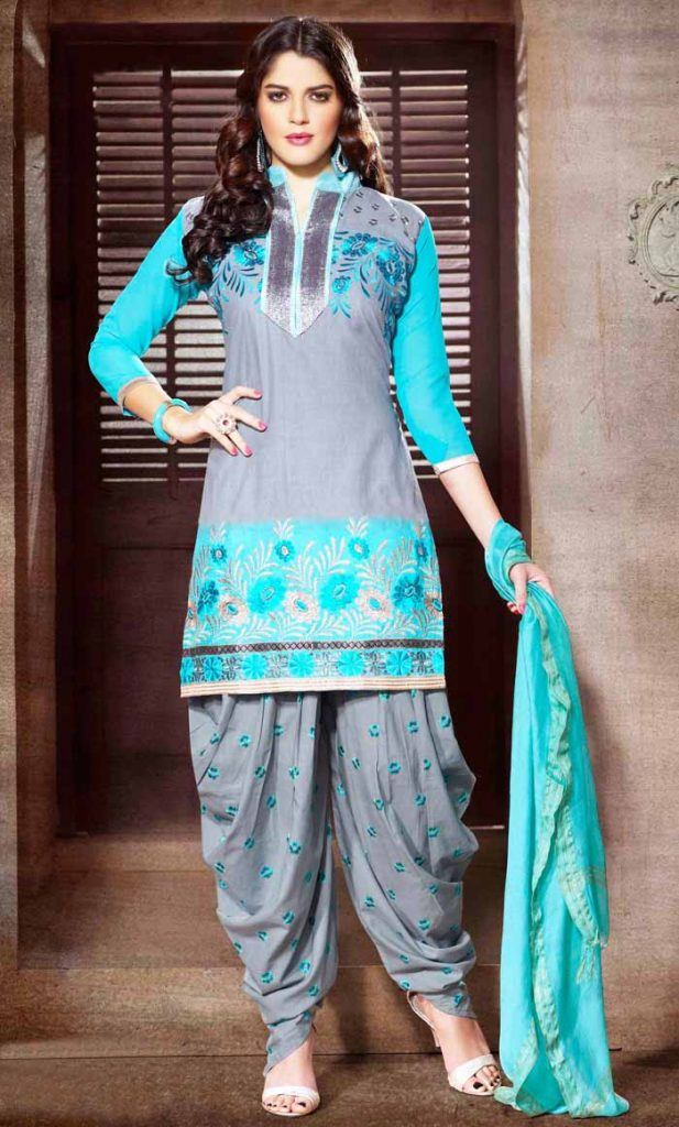 Punjabi-Patiala-Salwar-Kameez-Suits-02-617x1024 Latest Shalwar Kameez Designs for Girls-15 New Styles to try