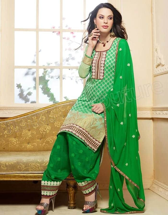 Punjabi-Patiala-Salwar-Kameez-Suits-16 Latest Shalwar Kameez Designs for Girls-15 New Styles to try
