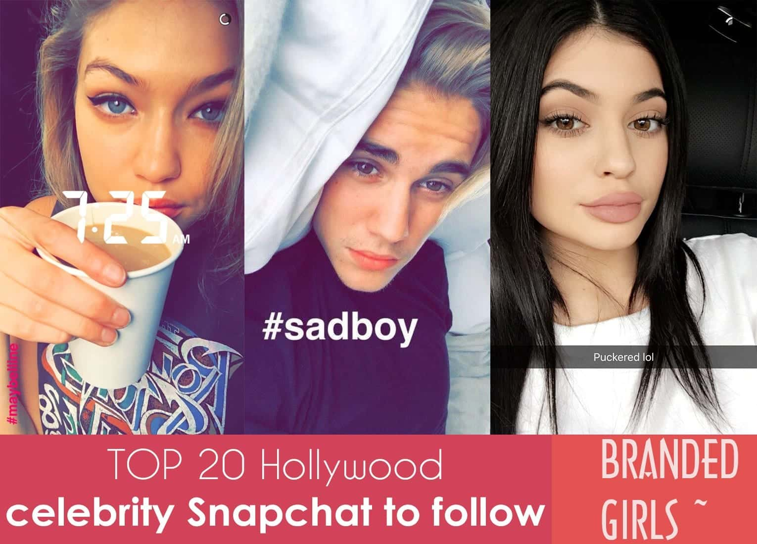 hollywood celeb snapchtas