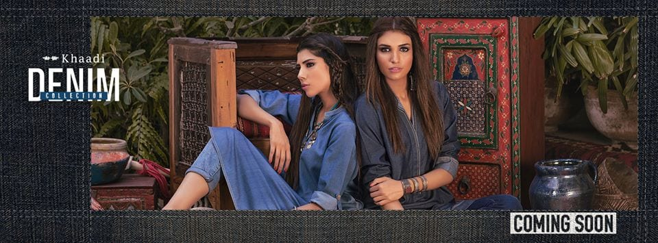 khaadi-denim-collection-kurtis Winter Kurtis Designs – 18 Latest Kurti Styles for Women