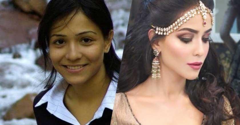 pakistani-actress-humaima-malik-with-and-without-makeup Pakistani Actresses without Makeup-Shocking Photos of Actresses with No Makeup