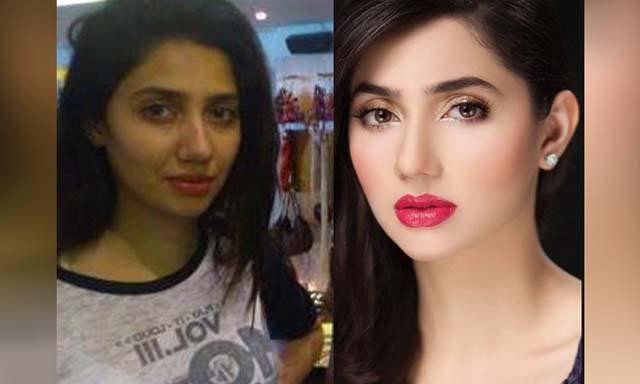 pakistani-actress-mahira-khan-with-and-without-makeup- Pakistani Actresses without Makeup-Shocking Photos of Actresses with No Makeup