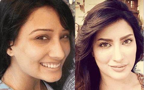 pakistani-actress-mehwish-hayat-with-and-without-makeup Pakistani Actresses without Makeup-Shocking Photos of Actresses with No Makeup