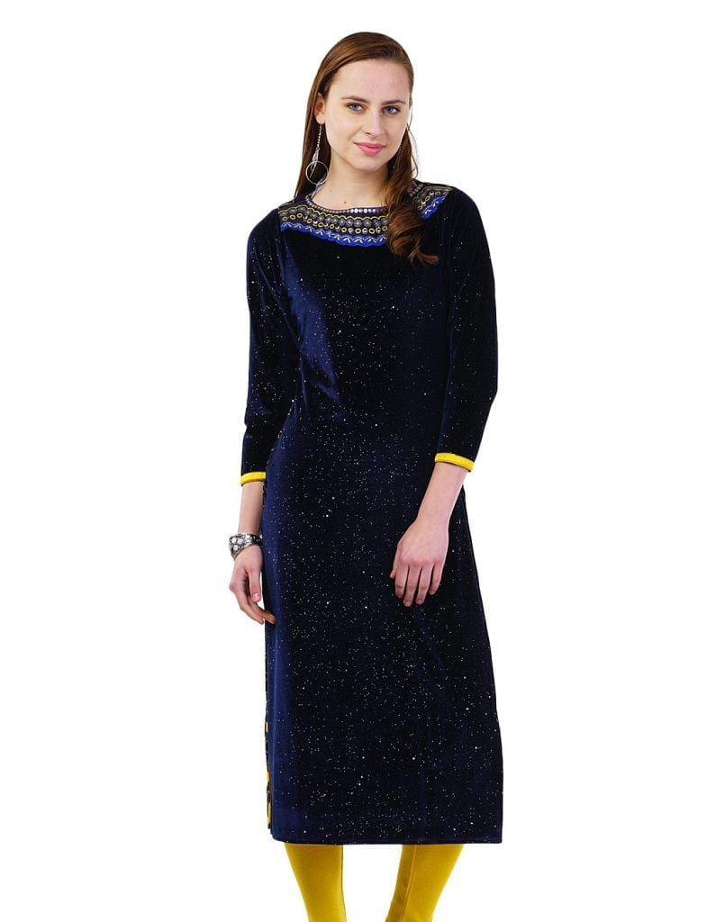 velvet1-805x1024 Winter Kurtis Designs – 18 Latest Kurti Styles for Women