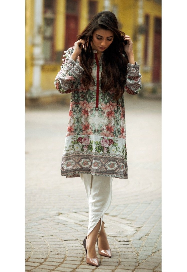 FirdosCasual2 Latest kurti designs 2017 from top 15 kurti designers these days