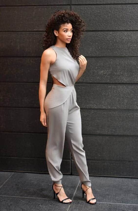 Jumpsuit-for-Work Work Outfits for African Women-25 Professional Attires