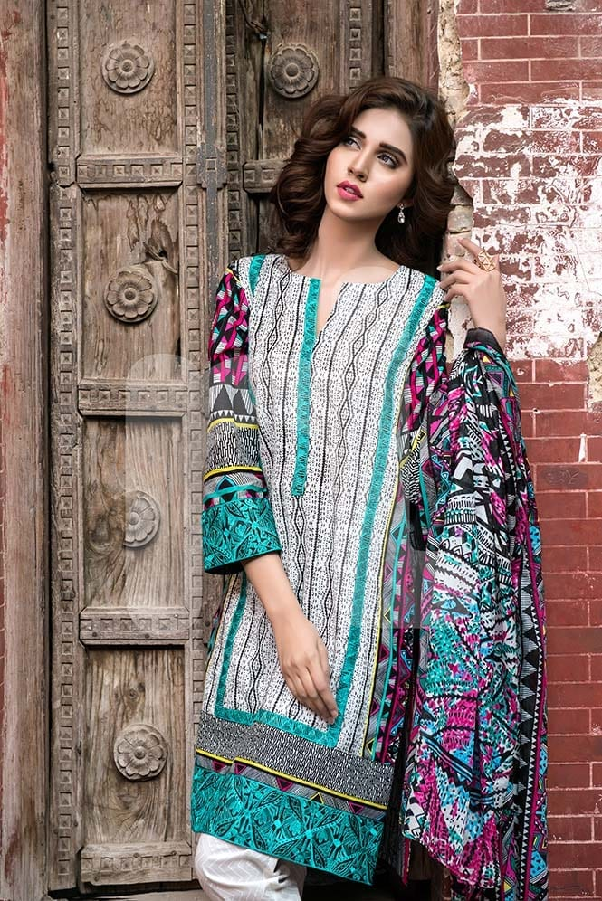NishatLienen2 Latest kurti designs 2017 from top 15 kurti designers these days
