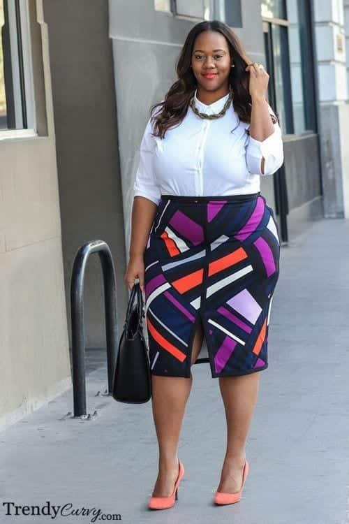Professional-Outfits-for-Curvy-Women Work Outfits for African Women-25 Professional Attires