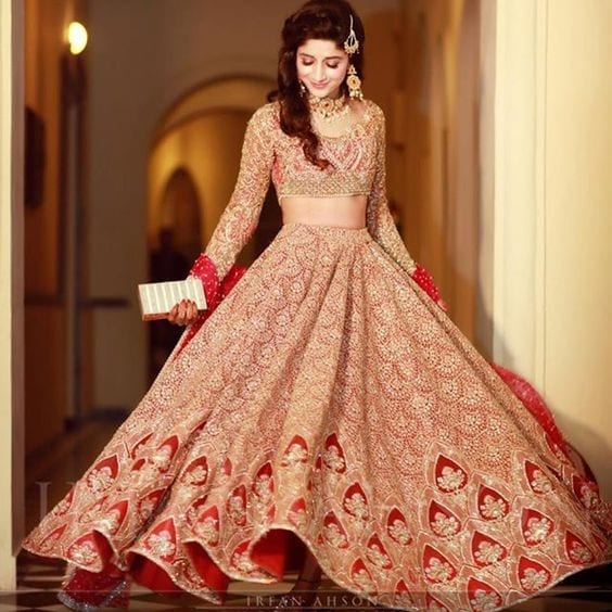 Red-lehenga 2017 Ghagracholi Designs-20 Latest Lehngacholi Styles These Days