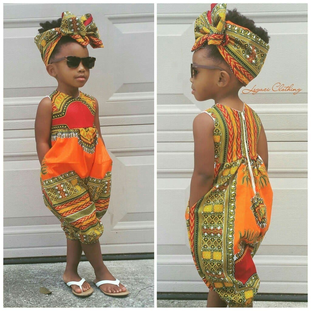 african-printed-jumpersrompers-for-kids African Dress Styles for Kids-19 Cute African Attire for Babies