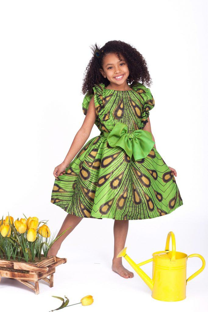 ankara-inspired-chiffon-dress-683x1024 African Dress Styles for Kids-19 Cute African Attire for Babies