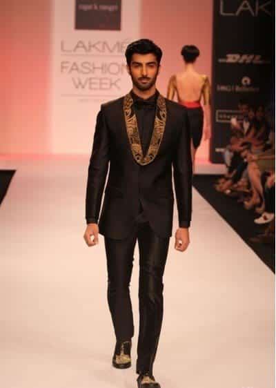 black-suit-rajat-tangri Engagement Outfits for Indian Men-20 Latest Ideas what to Wear on Engagement