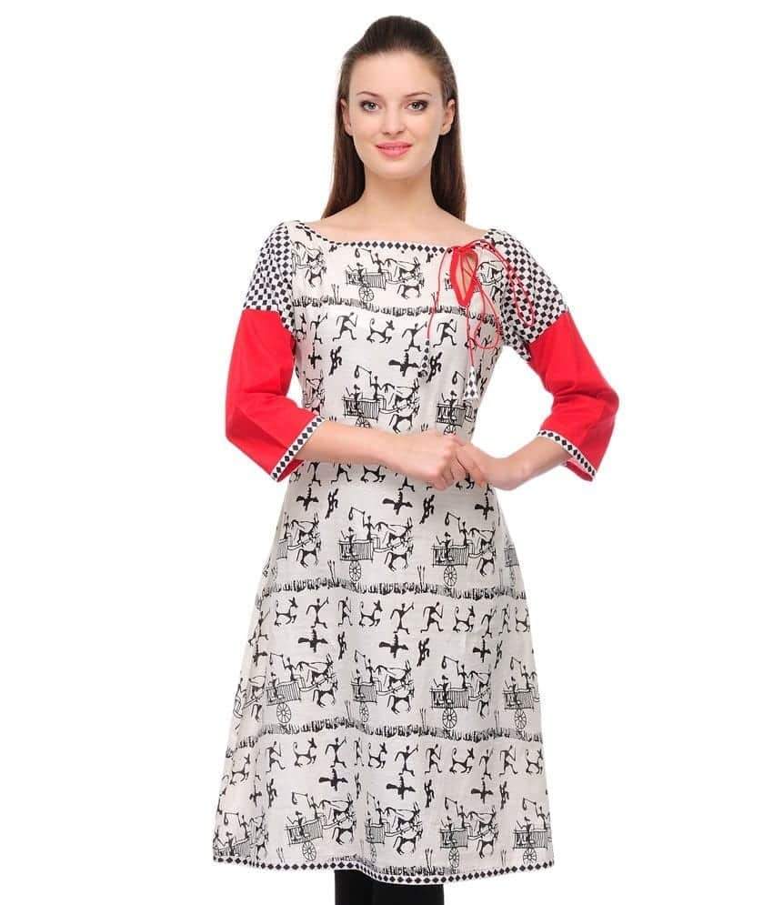 boat-neckline-look Kurti Neck Designs–23 Latest Kurti neck styles 2017