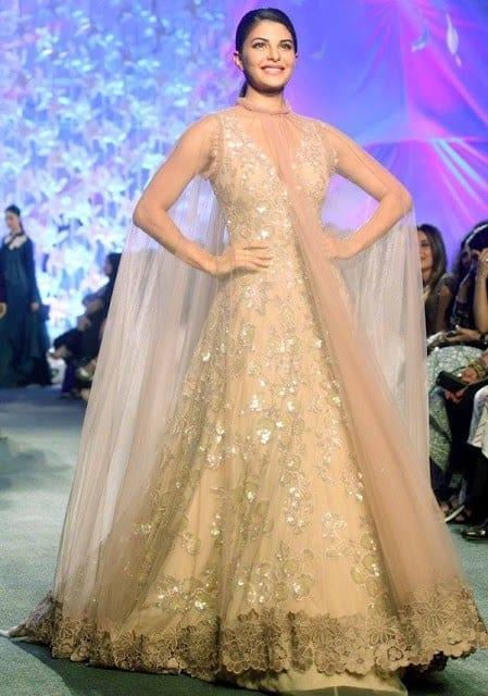 jaqueline-in-Manish-malhotra-lfw Manish Malhotra Wedding Dresses 2017-Top 20 Bridal Dress by Manish Malhotra