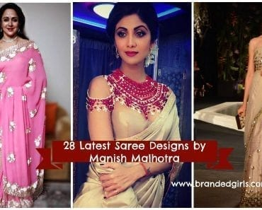 latest manish malhotra saree collection 2017
