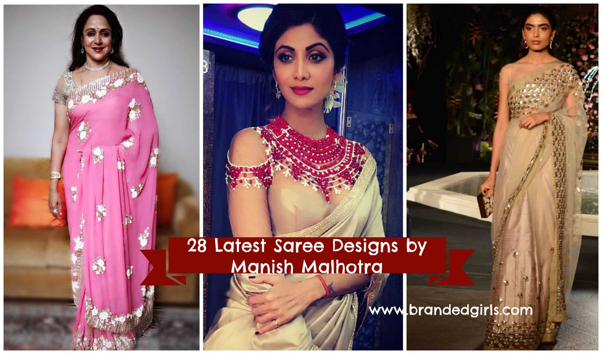 latest manish malhotra saree collection 2017
