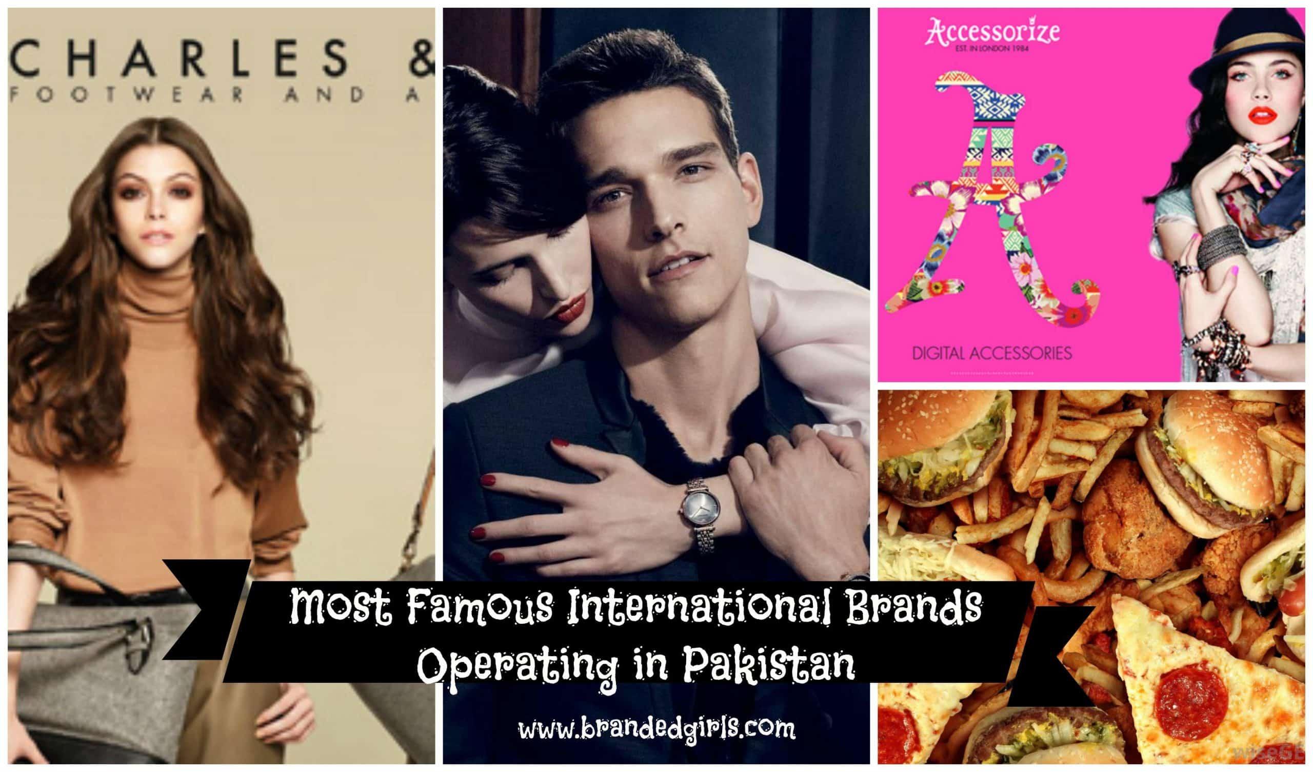 list of international brands in pakistan