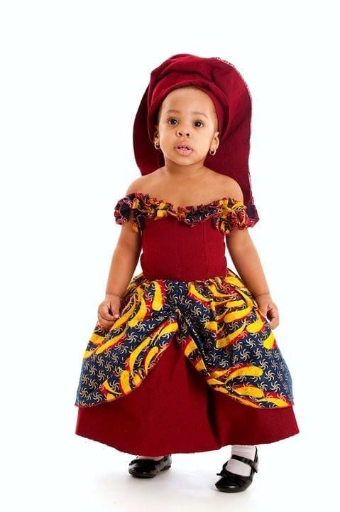 nigerian-traditional-style African Dress Styles for Kids-19 Cute African Attire for Babies