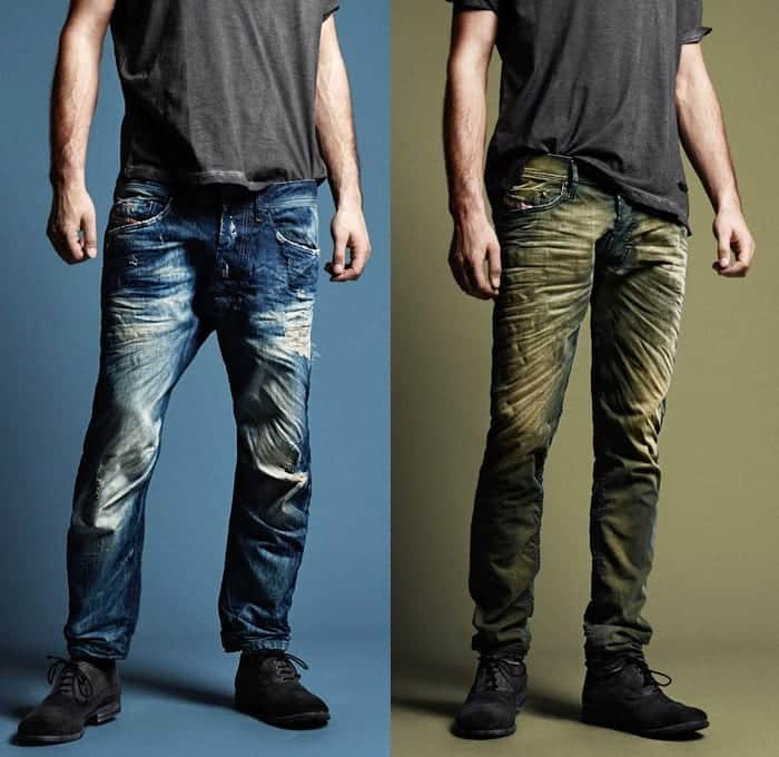 Dirty-Wash-Denim-Style Jeans for Skinny Guys-15 Perfect Ways to Wear Jeans Skinny Guys