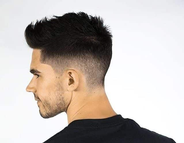 Short-Spikes-with-Mid-Fade Hairstyles for College Guys-25 New Hair Looks to Copy in 2017