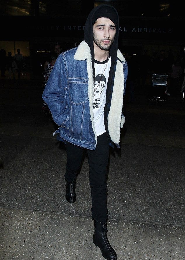 Tommy-Hilfiger-Denim-Jacket Zayn Malik Outfits-19 Best Outfits Worn by Zayn Malik All Time