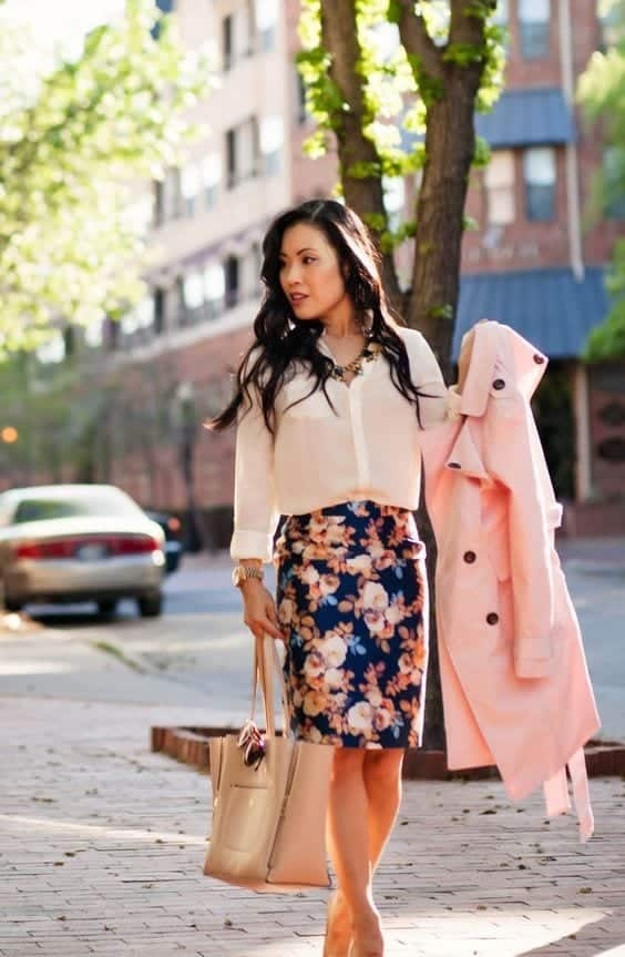 floral-skirt Church Outfits Ideas for Teenagers-17 Ways to Dress for Church