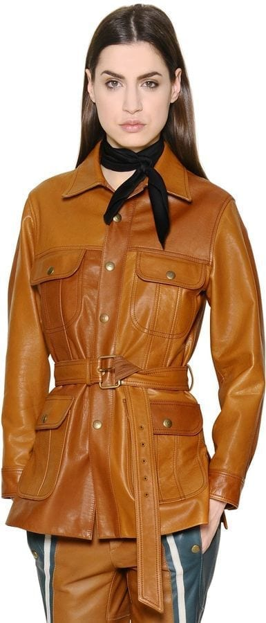 Chloe-Belted-Leather-Jacket Top Women Leather Jacket Brands-15 Most Expensive Brands 2017