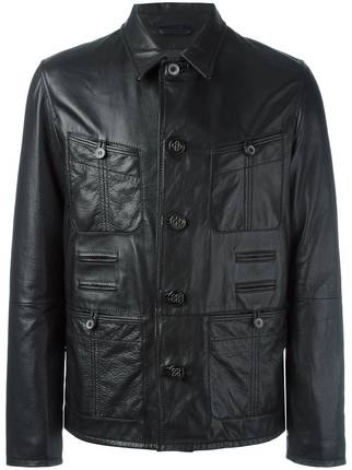 Lanvin-Grained-Effect-Jacket Top Brands for Leather Jackets-15 Most Popular Brands 2017 for Men