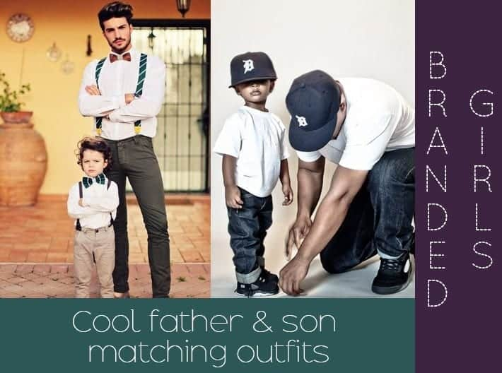 father and son matching outfits