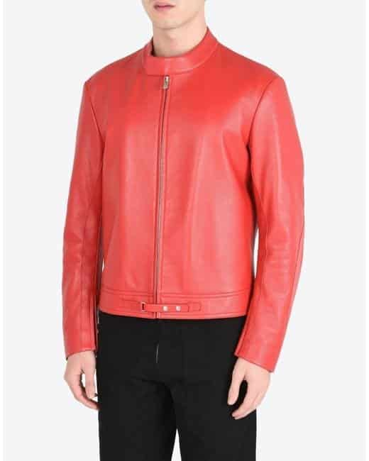 maison-margiela-red-leather-jacket Top Brands for Leather Jackets-15 Most Popular Brands 2017 for Men