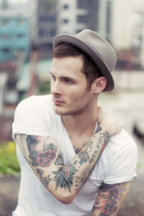 Elegant-Rose-Tattoos Skinny Guys with Tattoos-18 Best Tattoo Designs for Slim Guys