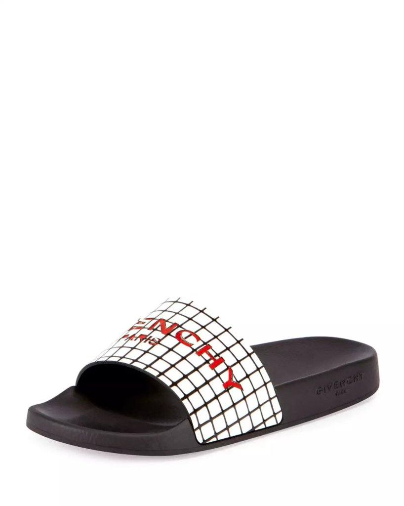 Givenchys-Printed-Rubber-Logo-Sandal Branded Shoes for Women-20 Best Designer Shoes to Buy in 2017