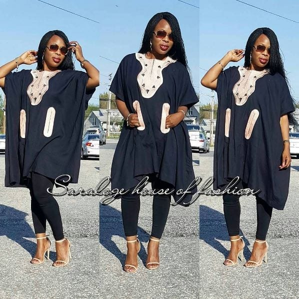 Monochrome-Agbada-Style Agbada Outfits for Women - 20 Ways to Wear Agbada in Style
