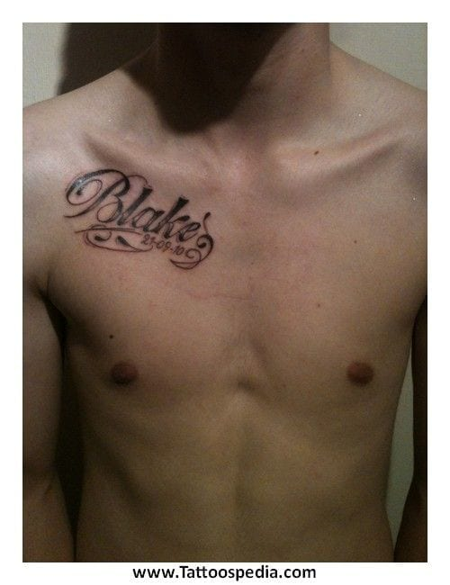 Name-Tattoo-Styles Skinny Guys with Tattoos-18 Best Tattoo Designs for Slim Guys
