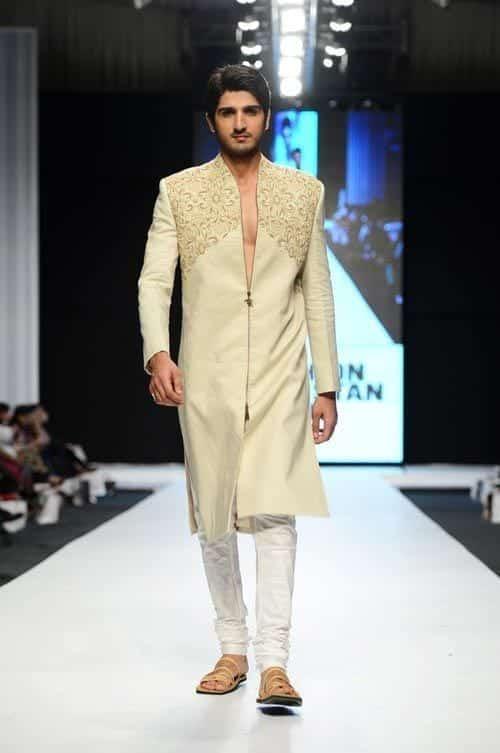 Off-White-Sherwani-with-Churidar Wedding Sherwani Outfits - 20 Best Sherwani Ideas for Grooms