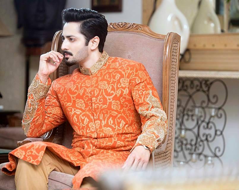 Orange-Jamawar-Sherwani Wedding Sherwani Outfits - 20 Best Sherwani Ideas for Grooms