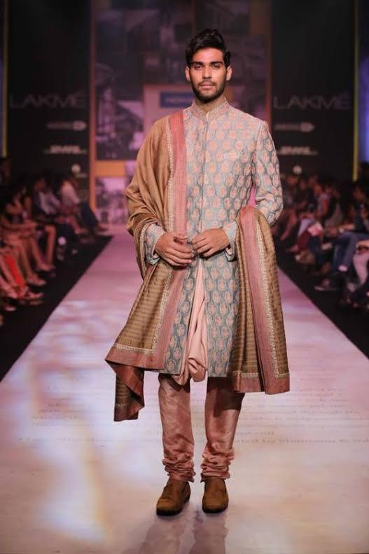 Sherwani-in-Pastel-Shades Wedding Sherwani Outfits - 20 Best Sherwani Ideas for Grooms