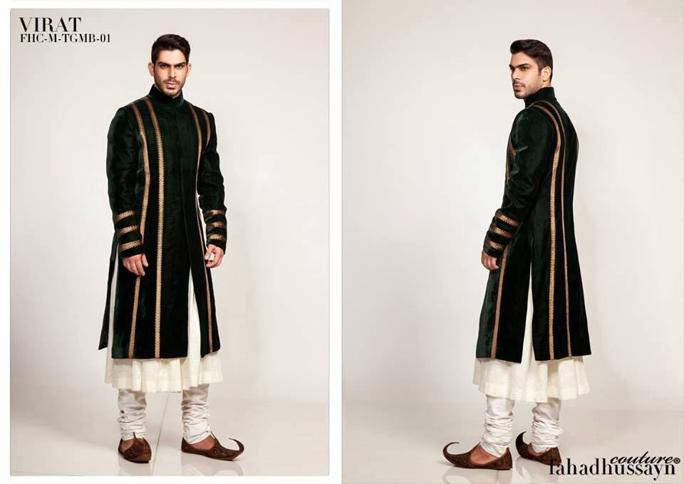 Simple-Dark-Green-Sherwani Wedding Sherwani Outfits - 20 Best Sherwani Ideas for Grooms
