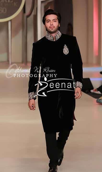Velvety-Black-Sherwani Wedding Sherwani Outfits - 20 Best Sherwani Ideas for Grooms