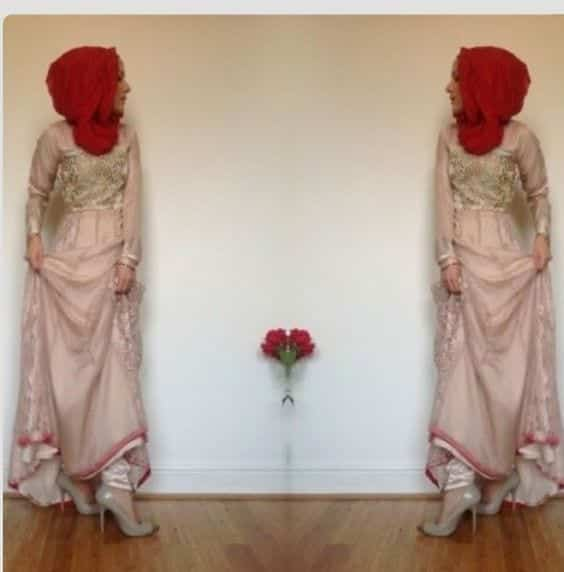 9-Hijab-Hijab-with-Indian-Churidar 30 Ways to Wear Hijab with Indian Ethnic Wear