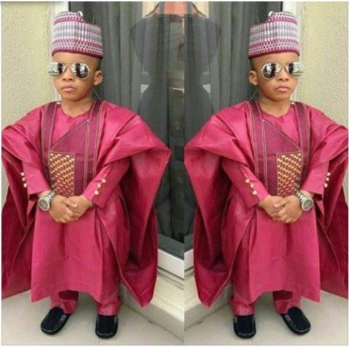 Agbada-Dresses-for-Boys Cute African Outfits- 20 Modern African Outfits for Children