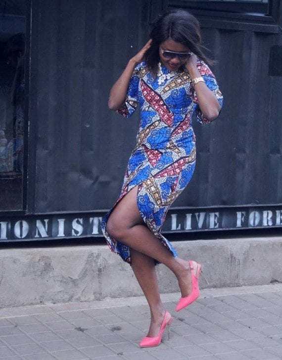 Ankara-Pencil-Dress Bow Afrika Clothes- Top 30 Chic Bow Afrika Outfits for Women