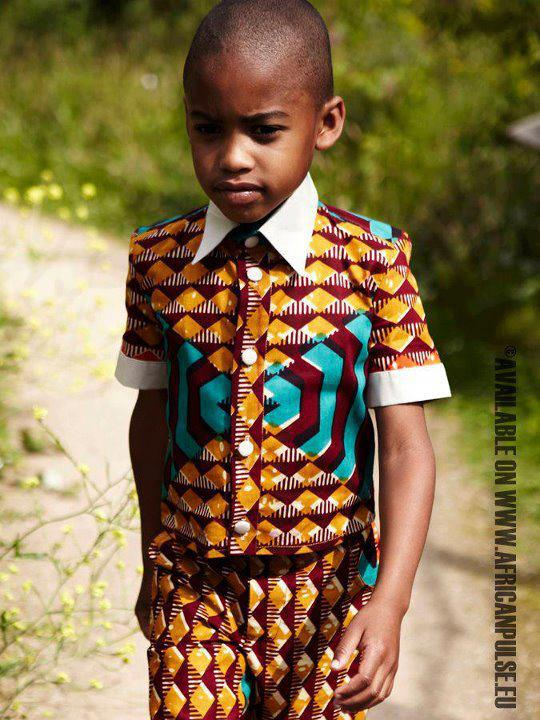 Ankara-Tops-for-Little-Boys Cute African Outfits- 20 Modern African Outfits for Children